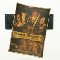 Wholesale Pirates movie posters sitting room adornment Kraft paper poster hangs a picture mural wall stickers