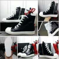 ankle cracking - Rick P240 High Top Genuine Leather Ro Owen Shoes Paul George Boots shoes Black Cracked Lace Up Owen Shoes Size