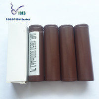 Wholesale Original LGHG2 Brown Rechargeable Lithium Battery For E cigarette Box Mods mah A Continuous A Max discharge