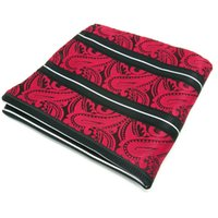 Wholesale JH8 Paisley Red Black Handkerchief Pocket Square Mens Neckties Jacquard Woven Hanky