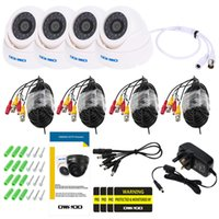 Wholesale OWSOO CCTV Camera System Kit TVL CCTV Cameras with ft Cable LEDs IR CUT Night Vision Security Camera Kit