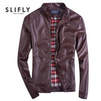 Wholesale Fall Big Size XL Mens PU Leather Jacket Solid Color Stand Collar Popular Handsome Jacket Punk New Red Leather JacketsDe Cuero Hombre