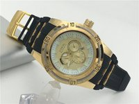 Wholesale Invicta luxury watch men s Analog Display Swiss Automatic small gold Watch