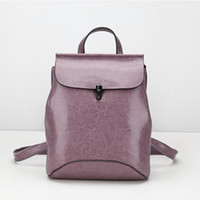 backpacks for women designer - High Quality Genuine Leather Backpacks for Women Brand Designer Bag Travelling Bag European Style Bag Ladies Multi Function Bag