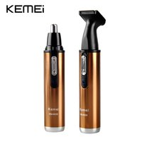 Wholesale 2 in Nose Ear Hair Clippper KM Electric Shavers Nose Hair Trimmer Safe Face Care Shaving for Nose Ear KEMEI Electric Clipper