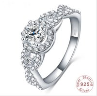 Wholesale wedding ring Real Pure Sterling Silver fashion women ring