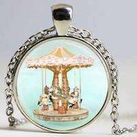 art rhinestone horse - Merry Go Round Necklace Vintage Carousel Horse Circus Carnival Art