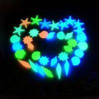 Wholesale Aquarium Glowing Stone Shell Decoration Fish Tank Stars Sands Decorations Plastic Drop Shipping Random Color