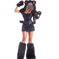 adult bear halloween costume - Halloween Animal Costume Adult bear costume cosplay sexy women black fur costume bear cute costume