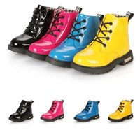 Wholesale New Arrival Spring Children s Martin boots Kids boots Boys Girls shoes Rain boots Patent leather Snow boots