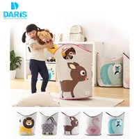 basket for toys kids storage - Hanging Toy Clothes Animal Laundry Storage Canvas Folding Storage Bag For Kids Laundry Bin Clothing Storage Basket Box Toiletry