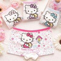 Wholesale 6 design Girls Panties Baby Kids Pants Children Briefs Princesses Girl Cute Boxer Hello Kitty Mickey Underwear Shorts Soft Cotton Cartoon