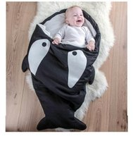 Wholesale Prettybaby newborn soft sleeping bag baby cartoon cute sharks whale design Stroller Swaddle bedding Wraps bags children security