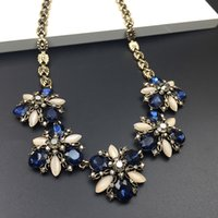 bid gold - 2016 Hot Vintage Silver Necklaces Fashion Jewelry Women Bohemian Crystal Necklace Chain Choker Bid Statement Chunky Necklace