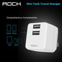 Mini-roches France-Rocher Micro USB Chargeur 2.4A Ports double de sortie Mini USB Voyage adaptateur pour Samsung Pliable Chargeur US Plug pour iPhone 6 6s