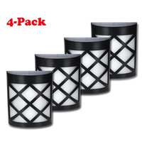 Wholesale Popular Solar Fence Lights Wall Mount LED Garden Light Lamp Outdoor Lightings For Deck Post Stairs Steps Gutter Patio Pond Pool pack