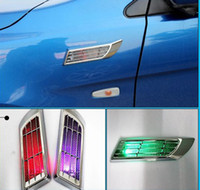 Wholesale New Solar Power Car False Tuyere Warning Light Lampada LED Automotivo Decorative Outlet Tailight Accessories Car External Lights