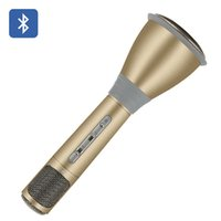 Wholesale K068 Mini Karaoke Player Wireless Microphone Condenser Microphone with Mic Speaker For Smart Phones Computer KTV Singing Record