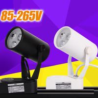 led track lighting - Led Track Light Commercial Lighting Renovation Led Ceiling Spot Lamp Light W V Black White Body for Cloth Store Warm Cool White