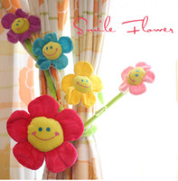 Wholesale Kawaii Childrens Toys Simulation Flower Artificial Flowers Sunflower Curtain Buckle Plush Cartoon Flower Plush Wedding Gift Piece