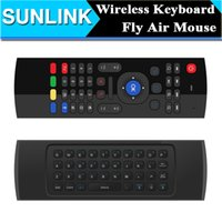 Wholesale X8 Mini Wireless Keyboard Fly Air Mouse Remote G Sensing Gyroscope Sensors MIC Combo MX3 M For MX3 MXQ M8 M8S M95 S905 STB Android TV BOX