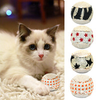 Wholesale Packs pack Cat Interactive Ball Toy Kitten Chewing Rattling Sound Toys Pet Hollow Balls