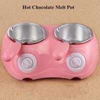 Wholesale Hot Sale Electric Chocolate Fountain Fondue Hot Chocolate Melt Pot Melter Machine