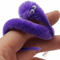 Wholesale Baby Children Finger Pupper Toys Worm Tricks Twisty Plush Wiggle Animals Toy For Kids Gift