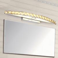 bathroom lights over mirror - 540mm crystal bathroom light V W led wall sconce lamp over mirror bedroom restroom makeup lighting