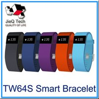 Wholesale TW64S Heart Rate Smartwrist Band Fitbit Wristbands Bluetooth OLED Screen Activity Tracker Sport Bracelet