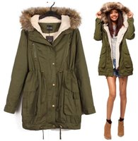 Wholesale Hot SALE Smart Winter Warm Faux Fur Lined Hooded Awesome Jacket Sz XL