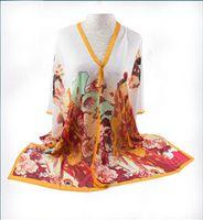 bali flower - Retro style bali yarn lady scarf shawl beach sunscreen maiden flower printing scarf cm elegant lady scarf shawl L027