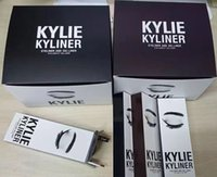 Wholesale 2016 new arrivalBRAND NEW Kylie Cosmetics By Kylie Jenner Kyliner In Black Brown with Eyeliner Gel pot Brush