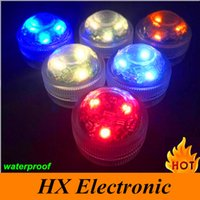 battery operated candles with remote - 2016 Newly underwater LED candle light IP68 waterproof RGB changeable color LEDs Tea Light Battery operated with remote controller
