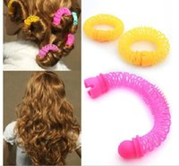 Wholesale Curl Fashion Style - 12 Pcs Lot New Fashion Arrival Lucky Donuts Curly Hair Curls Roller Hair Styling Tools Hair Accessories For WomenJJ50