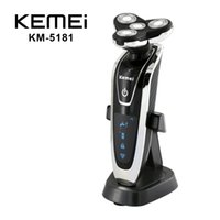 Electric Shavers - KEMEI KM In Electric Shaver Triple Blade Electric Shaving Razors Men Face Care D Floating Washable Rechargeable EU Plug