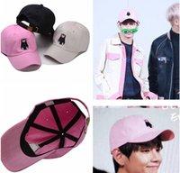 Cheap kpop Bangtan Boys BTS plates youth Kim hang with a lovely pink hat Xiongben V baseball cap k-pop ulzzang cap k pop lovely Goods
