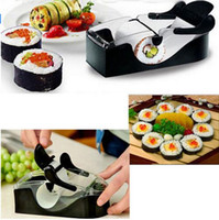 Wholesale Easy DIY Sushi Maker Roller equipment perfect roll mold set for making Roll Sushi with color box kitchen accessories