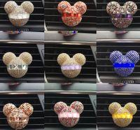 Precio de Car air freshener-El perfume del Rhinestone de Mickey de salida de aire del coche exquisito perfume del coche montó perforación Perfume acondicionador de aire del coche ambientador estilo