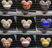 air conditioner outlet - Rhinestone Mickey Air Outlet Perfume Exquisite Car Perfume Car Mounted Drilling Perfume Air Conditioner Car Air Freshener styling
