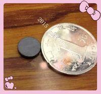 Wholesale Round black ferrite magnet ordinary refrigerator magnet mm mm