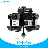 aluminum digital frame - CNC GoPro Hero Cameras Accessories degree Panoramic Bracket Aluminium Panorama Frame for Mount Go Pro Camera