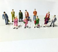 Wholesale ho scale Painted Model Train Passenger People Figures