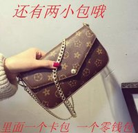 bamboo clutch bag - Change chain handbags Shoulder Messenger bag mini clutch side presbyopia