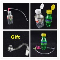 bamboo bowls - Stoned Mini Smoking Smart Oil Rig mm joint Plastic Spring Water Mineral Water Bottle Shaped inch Oil Rigs White Green Bongs Gift Bowl