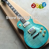 beginner electric guitar strings - G LP Supreme Electric guitar with AAA grade Flame Maple top Ebony Fretboard Deep green Back Top quality All Color are available