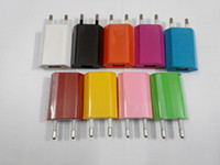 Wholesale Colorful USB Wall charger EU US Plug Home charger V A V mAh AC Power Charger Adapter For Iphone ip5 Galaxy S5 Note