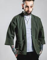 Wholesale Mens New Fashion streetwear mens Noragi kimono japanese Jackets kanye west jacket Hemp Men Jackets