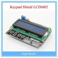 Wholesale LCD Keypad Shield LCD1602 LCD Module Display ATMEGA328 ATMEGA2560 Raspberry pi UNO Blue Screen