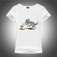 animal print toms - Bynellay Tom and Jerry lovely cartoon t shirt women Popular Personality shirt Brand Good quality comfortable soft cotton tops